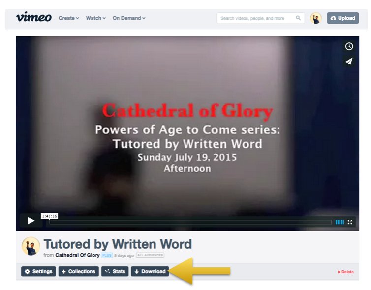 Download Video listed on Vimeo